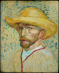 Van Gogh Self-Portrait With a Straw Hat and Artist's Smock 1887