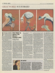 August 2007 Great Works Three Studies for Figures at the Base of a Crucifixion by Francis Bacon