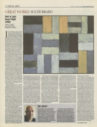 August 2007 Great Works Wall of Light Desert Night by Sean Scully