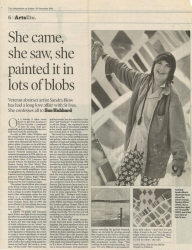 December 2001 She came she saw she painted it in lots of blobs