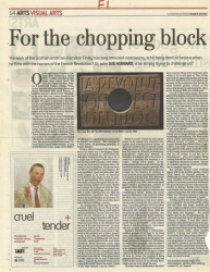 July 2003 For the chopping block