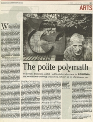 September 2003 The polite polymath