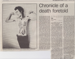 February 2004 Chronicle of a death foretold