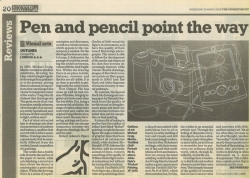 March 2008 Pen and pencil point the way