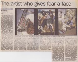 The artist who gives fear a face