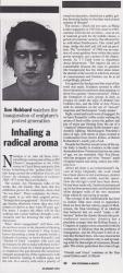 January 1993 Jnhaling a radical aroma