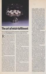The art of wish fulfilment
