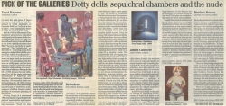 Pick of the Galleries Dotty dolls sepulchral chambers and the nude