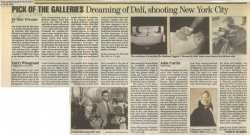 Pick of the Galleries Dreaming of Dali shooting New York City