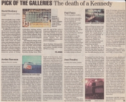 Pick of the Galleries The death of a Kennedy