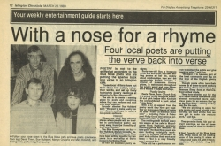March 1989 With a nose for a rhyme
