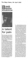 The Mayo News April 2000 A talent for pain Review of Depth of Field