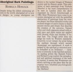 Aboriginal Bark Paintings Rebecca Hossack