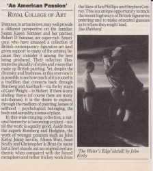 An American Passion Royal College of Art
