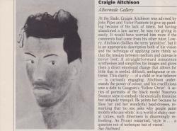 Craigie Aitchison Albermale Gallery