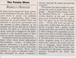 The Poetry Show Rebecca Hossack