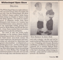 Whitechapel Open Show Delfina