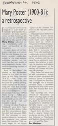Everywoman 1986 Mary Potter 1900 81 A Retrospective