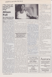 Everywoman 1987 Alison Fell Interview