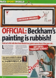 Official David Beckhams painting is rubbish