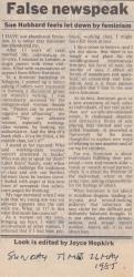 Sunday Times May 1985 False newspeak copy