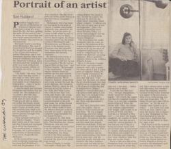 The Guardian 1989 Portrait of an artist