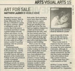 Art for Sale Matthew Lauder @ Mobile Home
