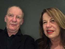 Sue Hubbard with Jock McFadyen RA at Bill Viola private view