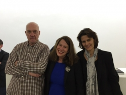 Sue Hubbard, Sean Scully and Liliane Tomasko at her show at the Kerlin Dublin
