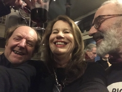 With artists Richard Wilson and Martin Richman