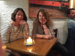 Sue Hubbard with gallerist Emma Hill of The Eagle