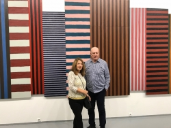 With Sean Scully at his Moscow opening