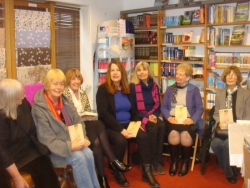 Launch reading for Girl in White Hunting Raven Bookshop Frome