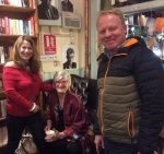 With artist Alice Maher and film maker Steve OReilly at the launch of Rainsongs at The Winding Stair Bookshop Dublin